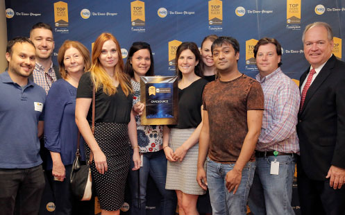 Top Workplaces winners employees from CivicSource