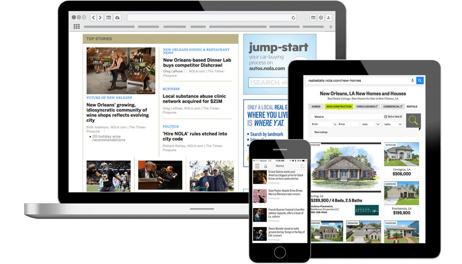 Display advertising examples of display ads on publisher site