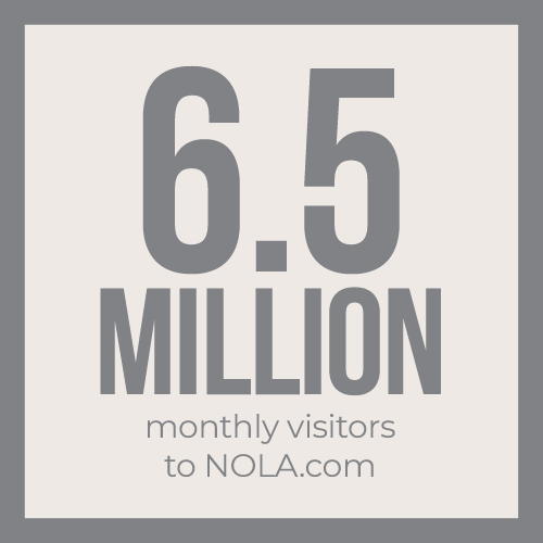 6.5 milion monthly visitors to NOLA.com